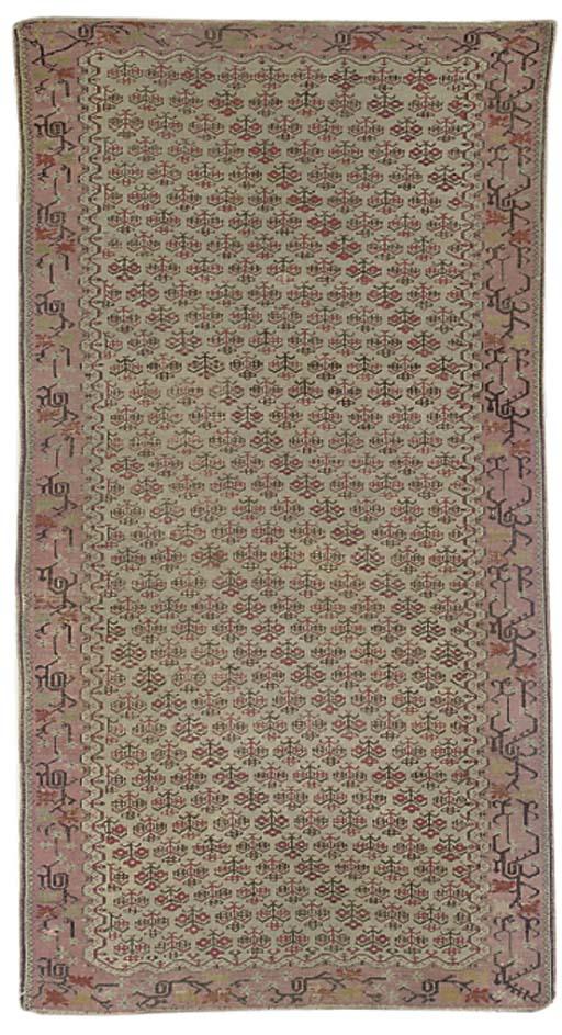 An unusual Ghiordes rug