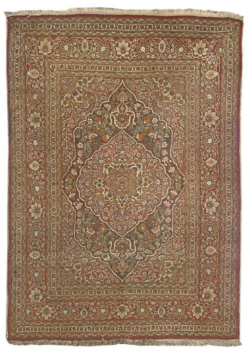 A Tabriz rug