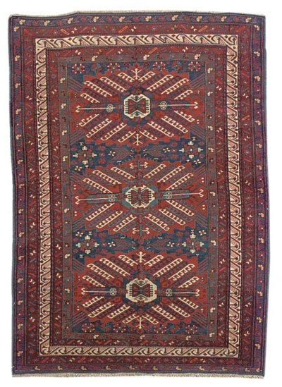 An unusual fine Zejwa rug