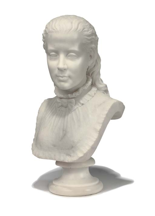 A VICTORIAN CARVED MARBLE BUST