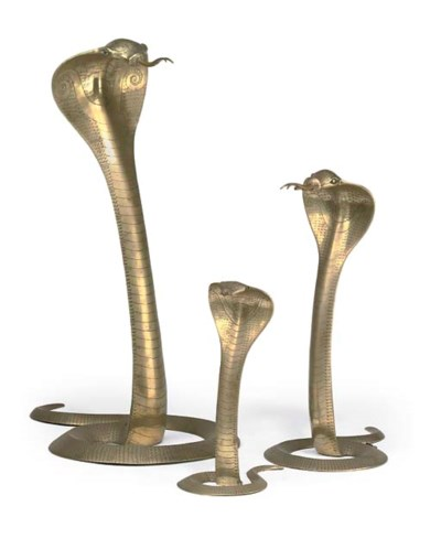 A MATCHED PAIR OF BRASS LAMPS