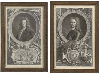 A SET OF TEN ENGRAVED PORTRAIT