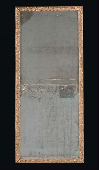 A FRENCH GILT GESSO MIRROR