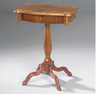 AN AUSTRIAN WALNUT AND BEECH W