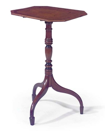 A REGENCY MAHOGANY AND CROSSBA