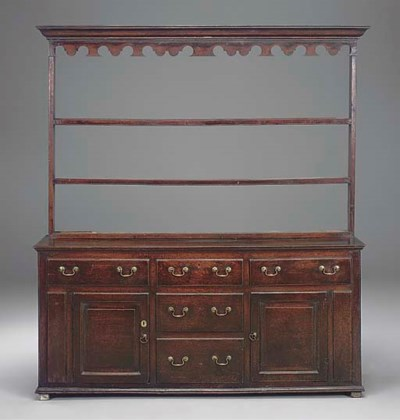 A YORKSHIRE OAK DRESSER WITH R