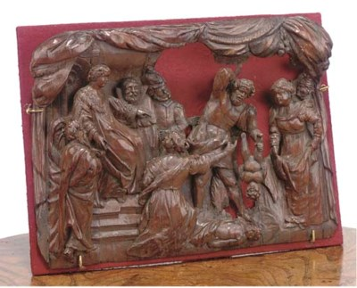 A RHENISH CARVED RELIEF OF THE