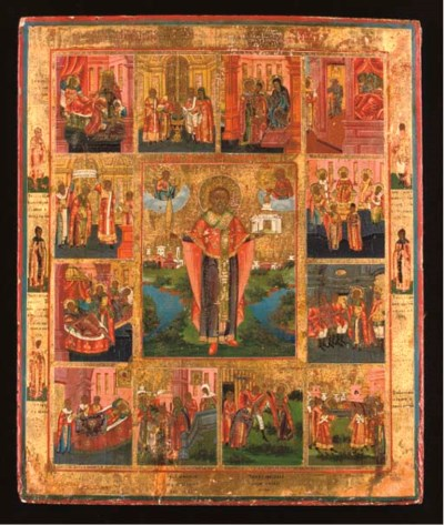 SAINT NICHOLAS WITH SCENES FRO