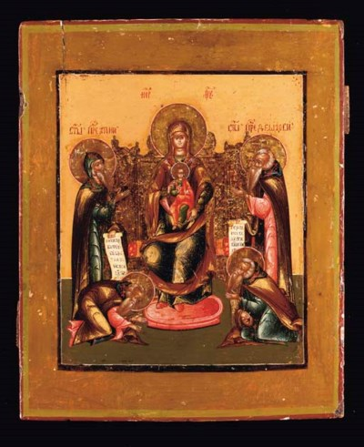 ENTHRONED MOTHER OF GOD