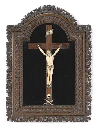 A GERMAN MARINE IVORY CRUCIFIX
