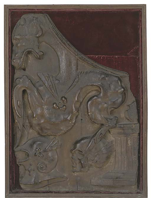 A FRENCH CARVED WOOD RELIEF PE