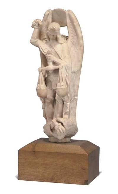 A SPANISH ALABASTER GROUP OF S