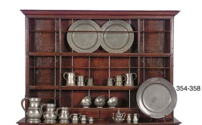 A COLLECTION OF ENGLISH PEWTER