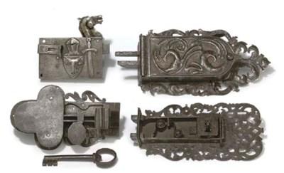 FOUR GERMAN IRON OR STEEL LOCK