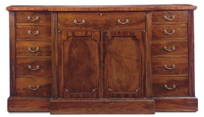A MAHOGANY BREAKFRONT SIDE CAB