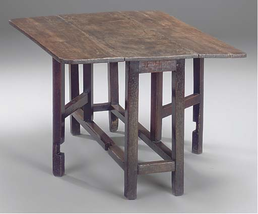 A WELSH OAK GATELEG TABLE