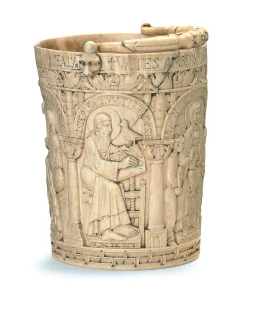 A FRENCH IVORY MODEL OF A HOLY