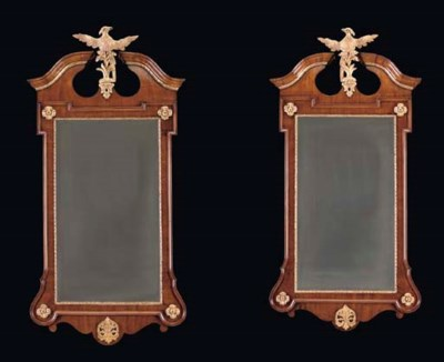 A PAIR OF GEORGE II WALNUT AND