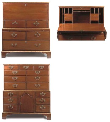 A GEORGE III MAHOGANY AND PARC