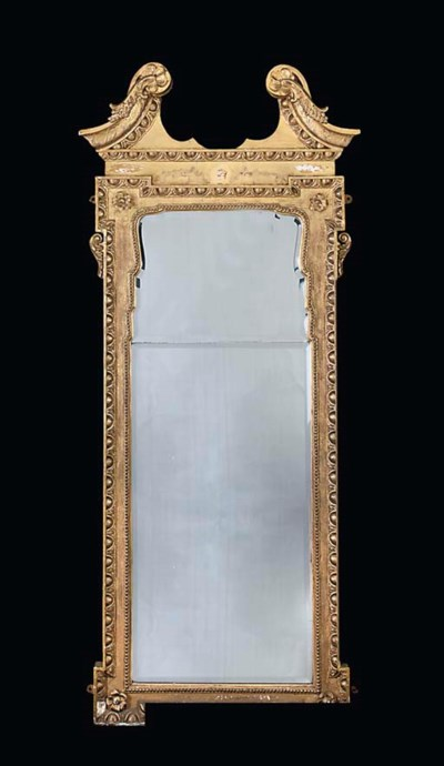 A VICTORIAN GILTWOOD AND GILT-