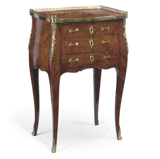 A LOUIS XV KINGWOOD AND MARQUE
