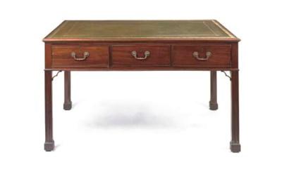 A MAHOGANY WRITING-TABLE