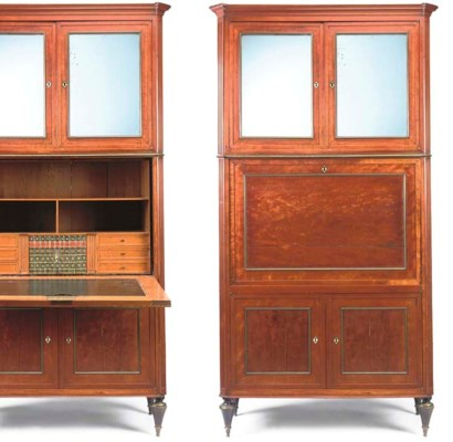 A FRENCH SATINWOOD SECRETAIRE