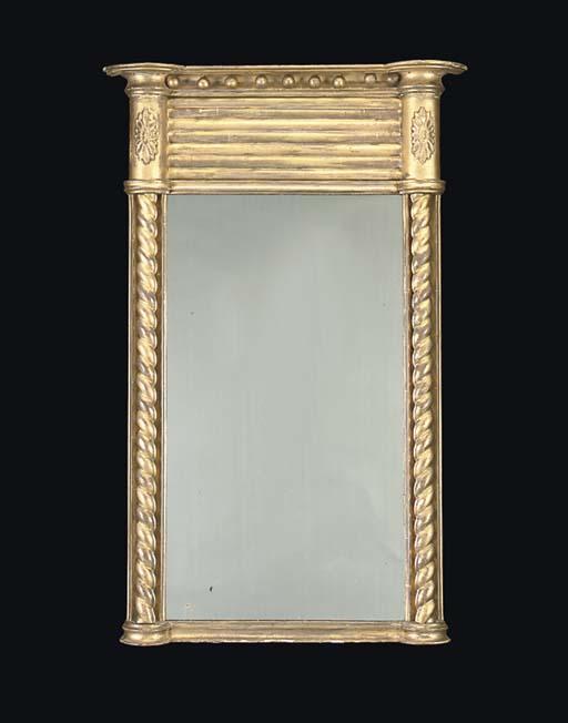 A GEORGE IV GILTWOOD PIER GLAS