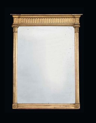 A REGENCY GILTWOOD MIRROR