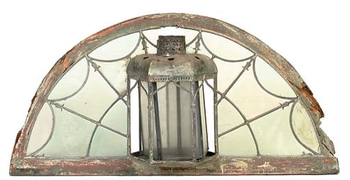 AN IRISH ARCHED FANLIGHT OVERD