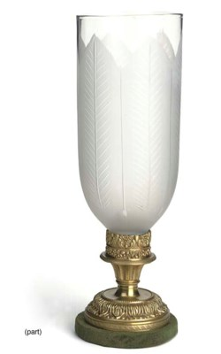 A BRASS LAMP BASE