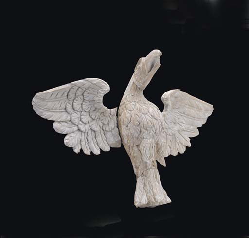 A REGENCY CARVED PINE EAGLE CR