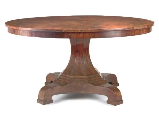 A WILLIAM IV MAHOGANY CIRCULAR