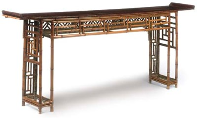 A CHINESE BAMBOO ALTAR TABLE