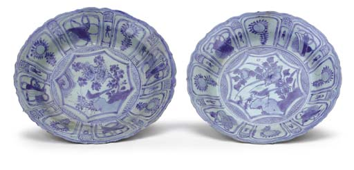 TWO CHINESE BLUE AND WHITE FOL