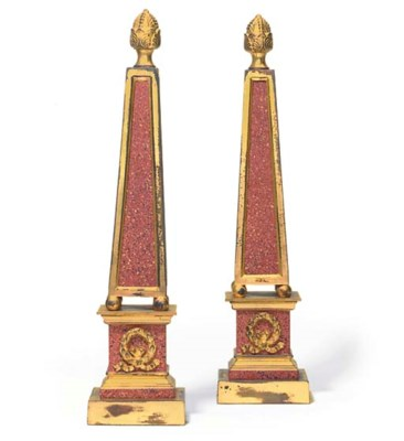 A PAIR OF SIMULATED PORPHYRY A