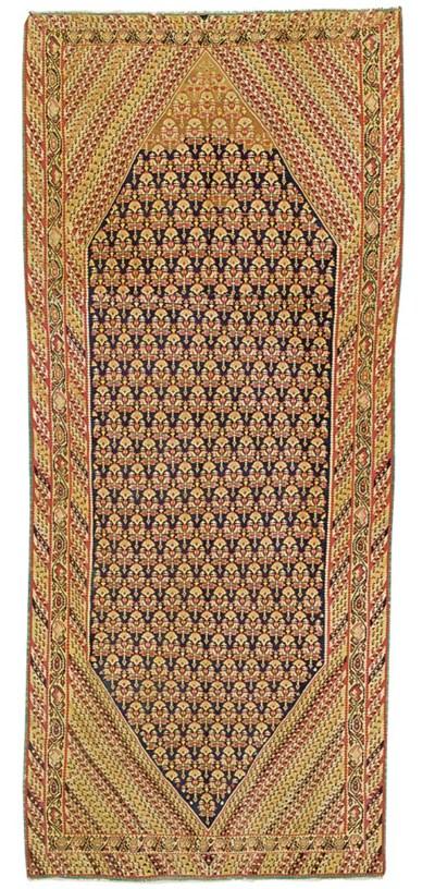 A large antique Bijar kilim, N