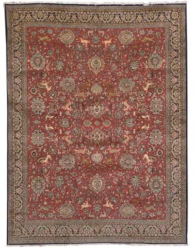 A fine part silk Qum carpet, C
