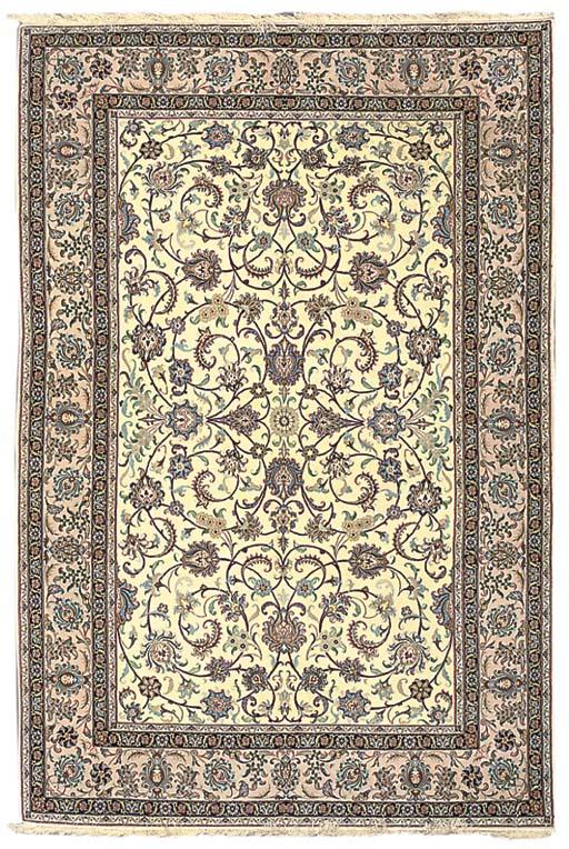 Very fine part silk Isfahan ca