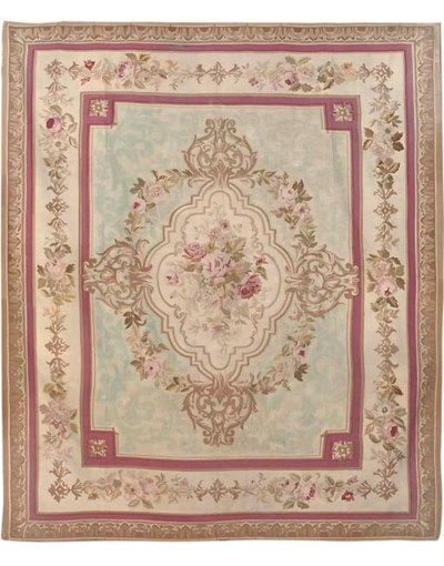 An antique Aubusson carpet, Fr