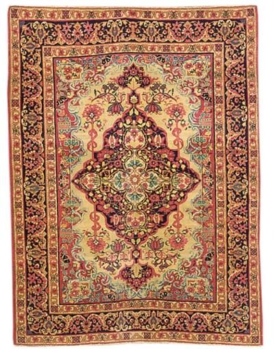 A fine Kirman Laver rug, South