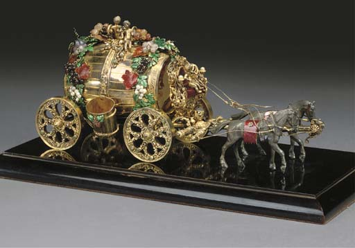 AN AUSTRIAN SILVER-GILT MODEL