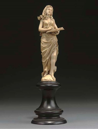 A FRENCH IVORY FIGURE OF A GIR