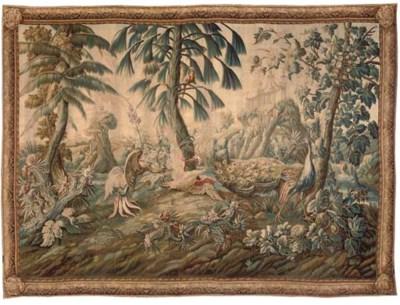 A LOUIS XV AUBUSSON CHINOISERI