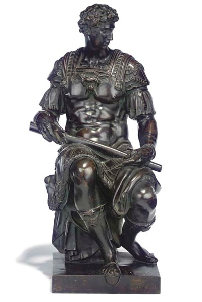 A BRONZE FIGURE OF LORENZO DE