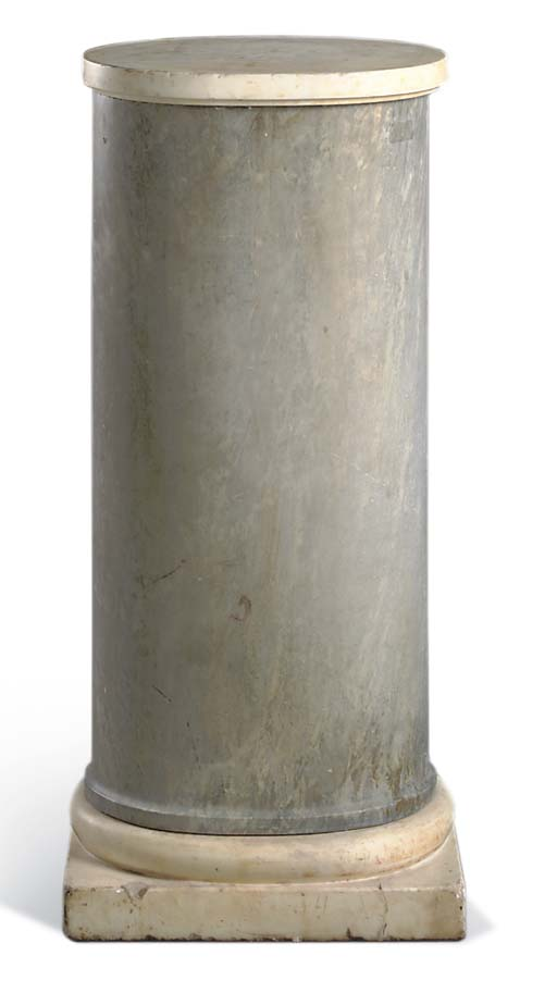 A DOVE-GREY AND WHITE MARBLE P