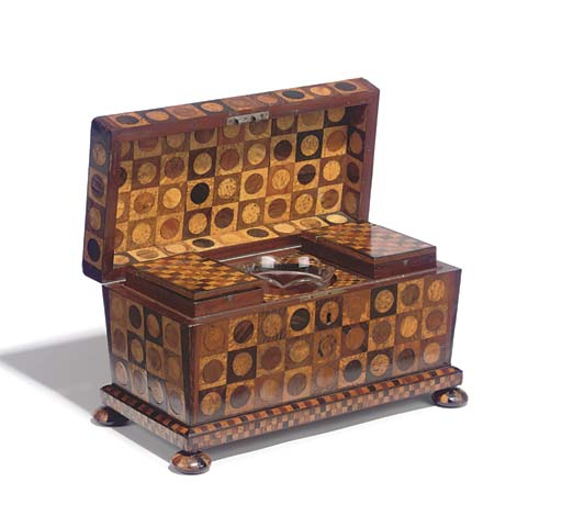 AN EARLY VICTORIAN PARQUETRY T