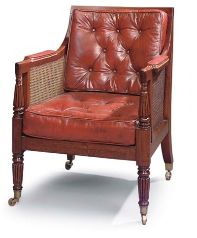 A LATE REGENCY MAHOGANY AND CA