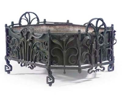 A FRENCH WROUGHT IRON JARDINIE