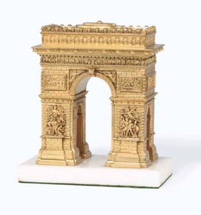 A GILT BRONZE MODEL OF THE ARC